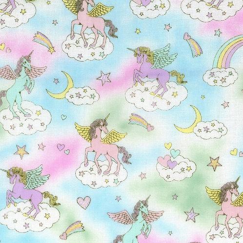 Cosmo Fairy Tales Unicorn Double Gauze