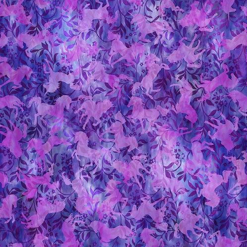 Unicorns Purple Unicorns Fabric