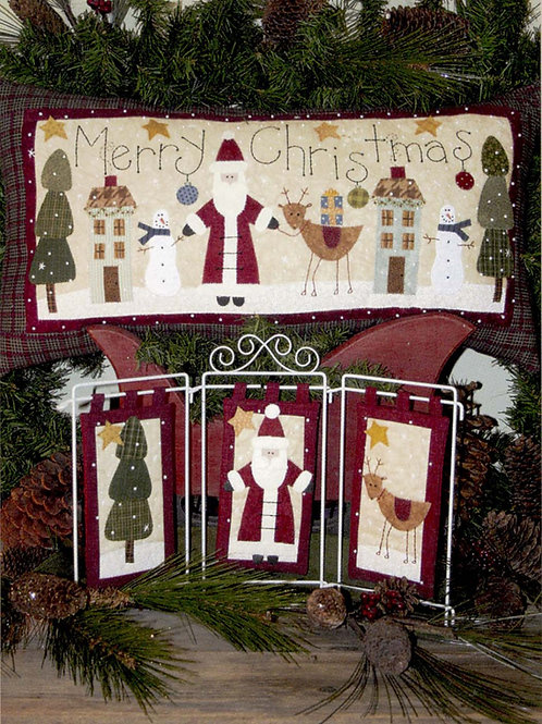 Bareroots Santa Claus Pillow and Hangers Pattern