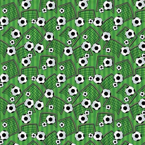 Green Football Fabric
