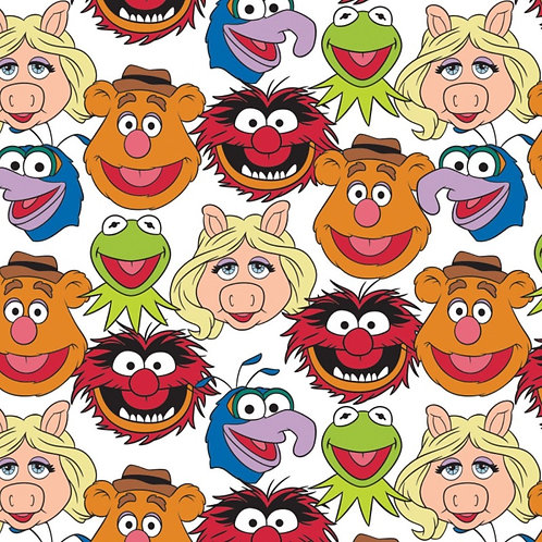 Disney The Muppets Cast Fabric - White
