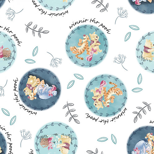 Winnie the Pooh and Friends Circles Fabric