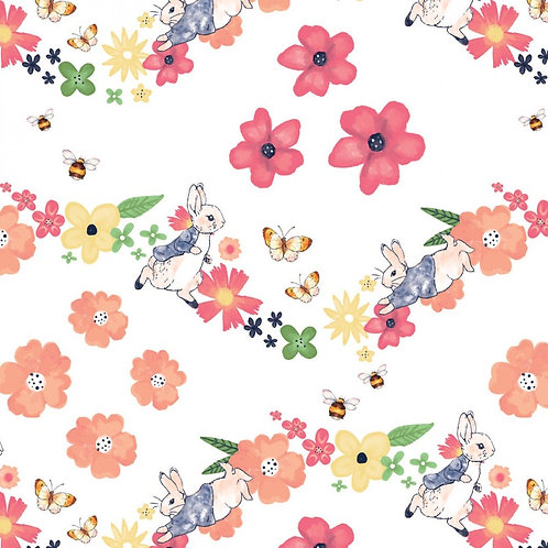 Peter Rabbit Large Florals Fabric