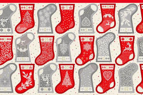KIT - Scandi Christmas 2021 Mini Stocking Advent Panel