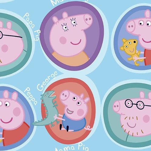Peppa Pig Family Fabric