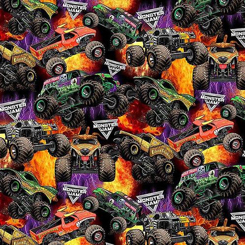 Monster Jam Monster Trucks Packed Fabrics