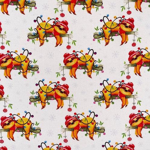Christmas Sloths Fabric