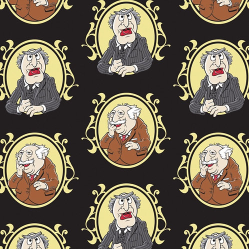 Disney The Muppets Waldorf and Slater Fabric - Black