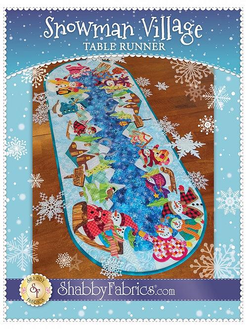 Snowman Village Table Runner Pattern