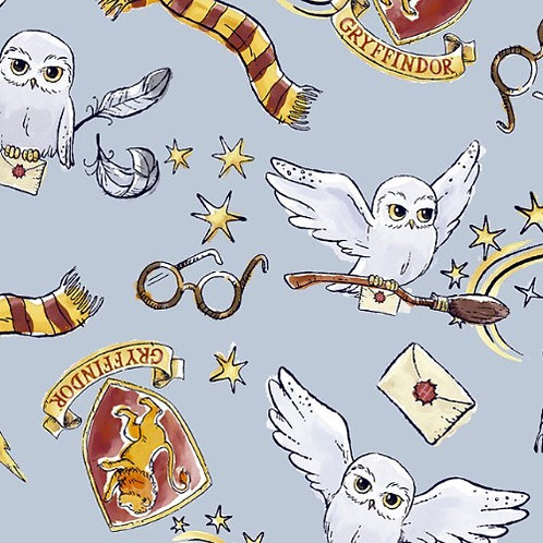 Harry Potter Magical Gryffindor Hedwig Fabric