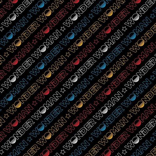 Wonder Woman 1984 Logo Fabric - Black