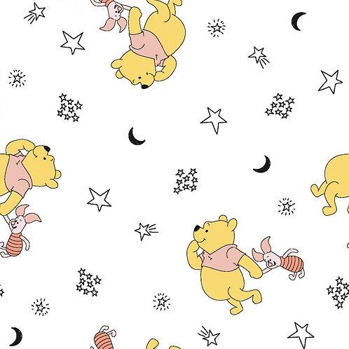 Winnie the Pooh Piglet and Stars Fabric
