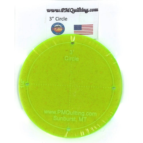 """PM Quilting 3"""" Circle Template"""