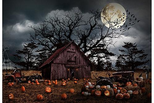 Pumpkin Haunted Halloween Panel