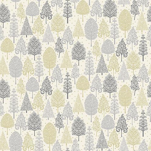 Grey Trees Scandi Fabric Makower 2356-S