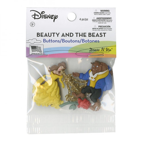 Beauty and the Beast Button Embellishments