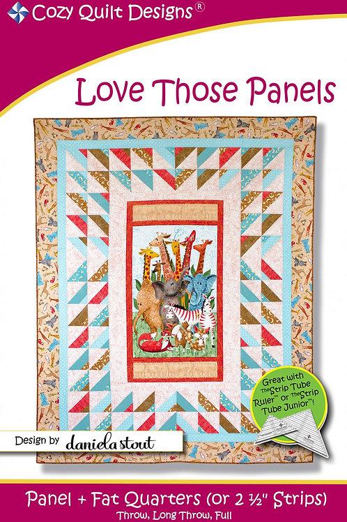 Cozy Quilt Designs Love Those Panels Quilt Pattern