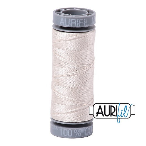 Aurifil 28 100m 2309 Silver White Cotton Thread