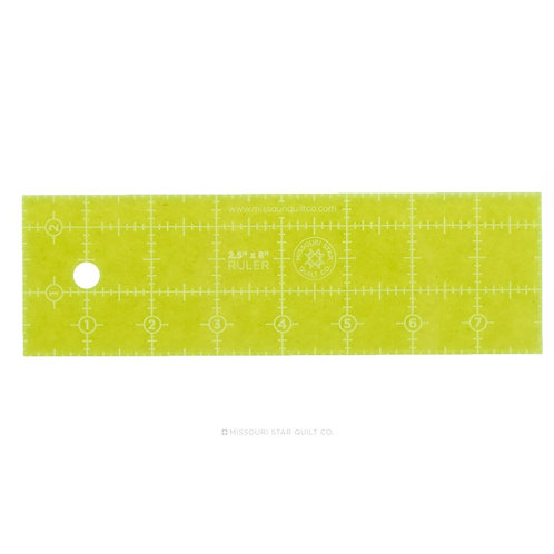"Missouri Star Quilt Company 2.5"" x 8"" Ruler"
