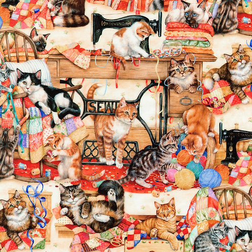Sewing Kittens Fabric