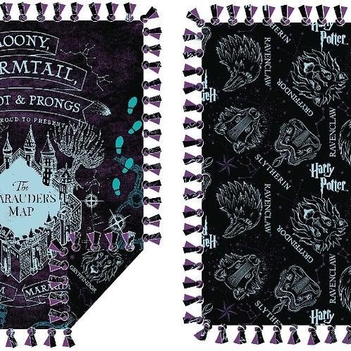 Harry Potter Marauders Map No-Sew Fleece Throw Kit
