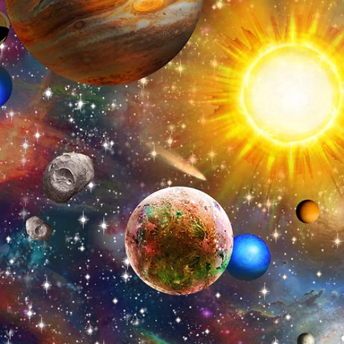 Quilting Treasures Planets Fabric