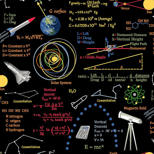 Planetary Missions Graphics and Formulars Fabric