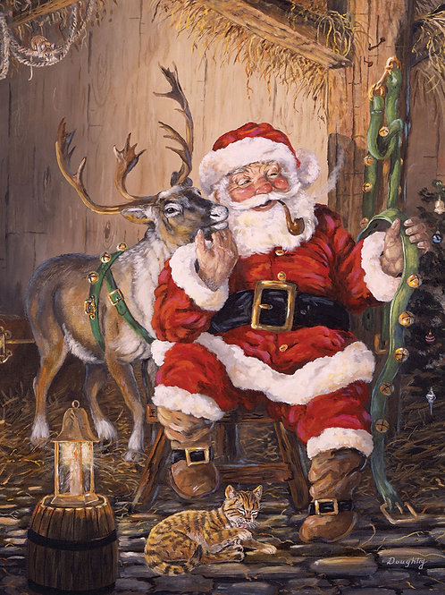 Christmas Memories Time to Go Fabric Panel