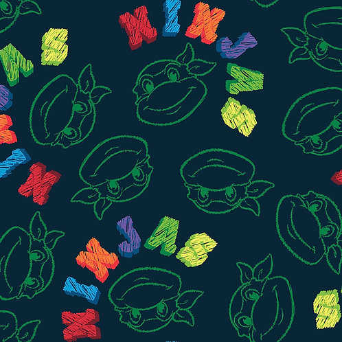 LP Teenage Mutant Ninja Turtles Sketch Fabric