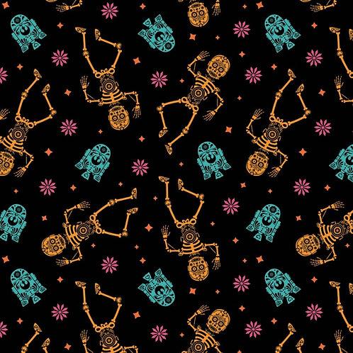 Star Wars Sugar Droids Halloween Fabric