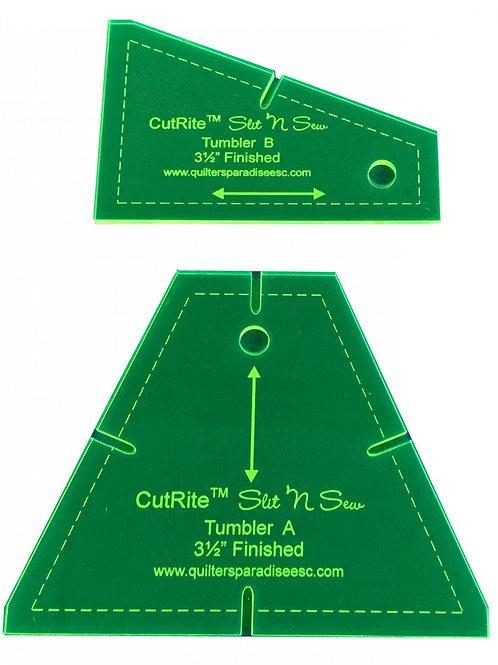 CutRite Slit N Sew Tumbler 3.5 Inch Finished Template