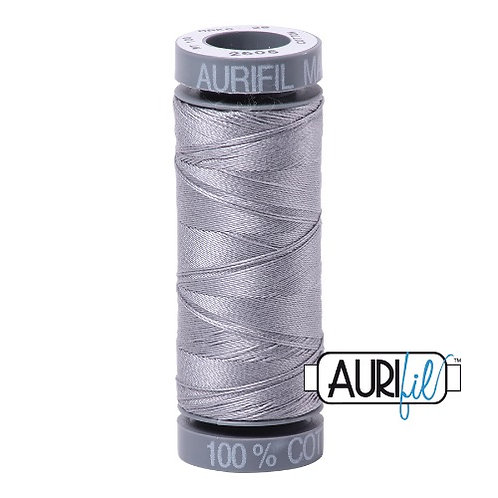 Aurifil 28 100m 2605 Grey Cotton Thread