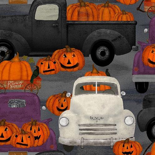 Spooky Night Pumpkin Patch Fabric