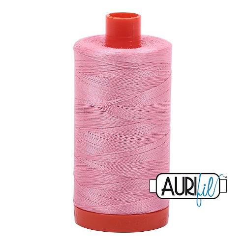 Aurifil 50 1300m 2425 Bright Pink Cotton Thread