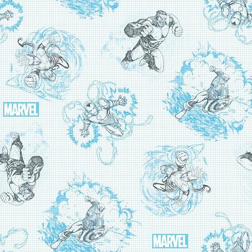 Marvel Sketch Fabric