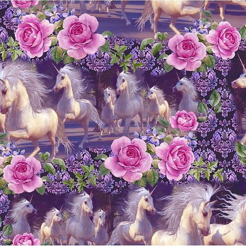 Unicorns Running Fabric