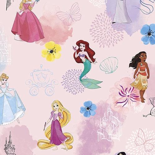 Disney Princesses Allover Fabric