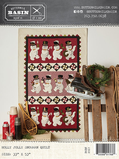 Holly Jolly Snowman Quilt Pattern