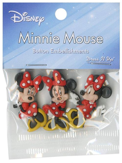 Disney Minnie Mouse Button Embellishments