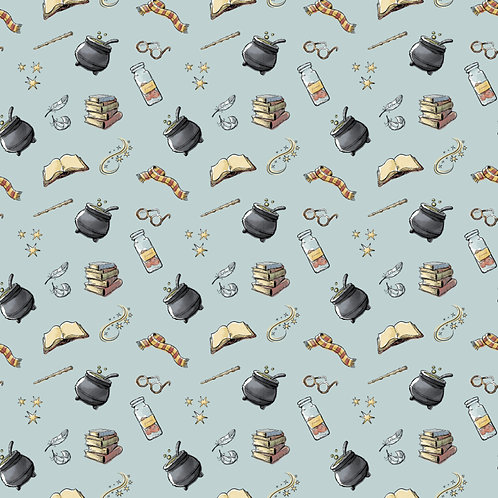 Harry Potter Potions Fabric - Blue