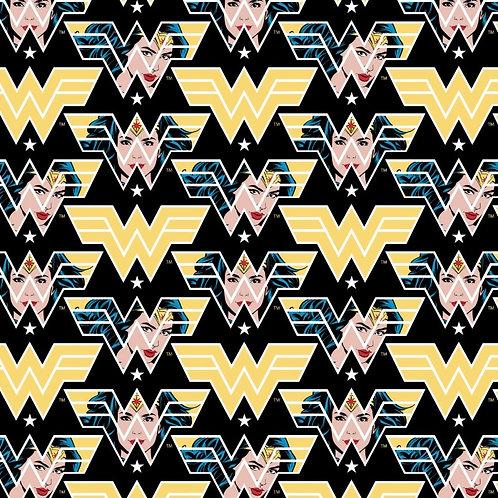 Wonder Woman 1984 Face Crop Fabric - Black