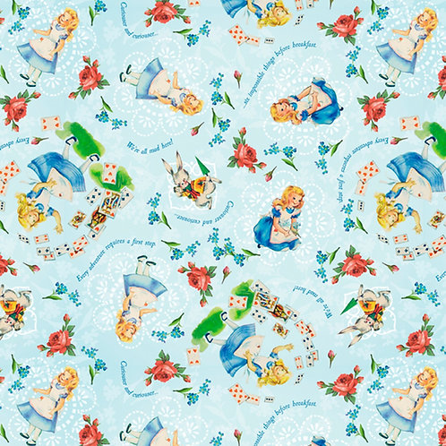 Vintage Storybook Alice in Wonderland Sweet Alice Fabric