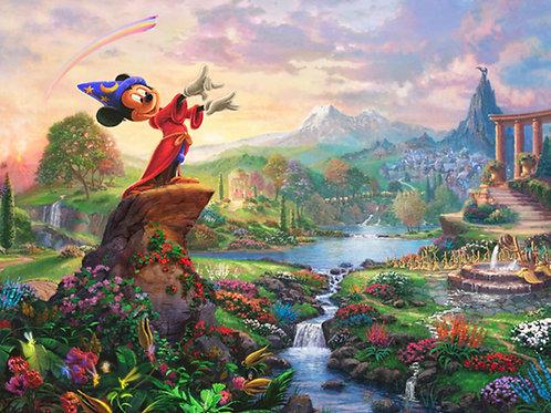 Disney Dreams Mickey Mouse Fantasia Panel