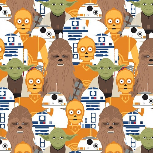 Star Wars Packed Characters Fabric