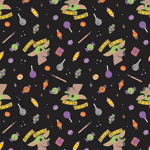 Star Wars Yoda Give Me Candy Halloween Fabric