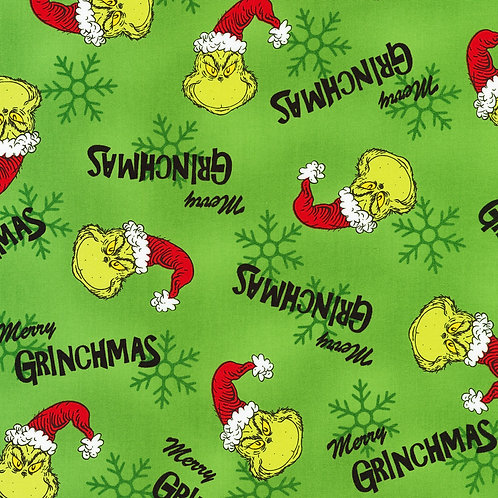 How the Grinch Stole Christmas Green Fabric