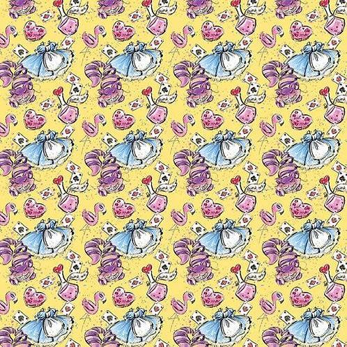 Wonderland Yellow Fabric