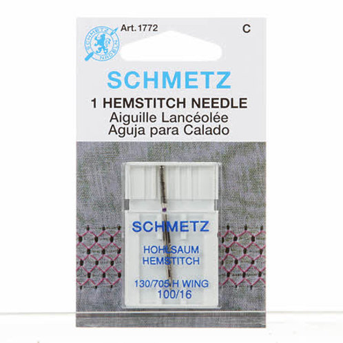 Schmetz Hemstitch/Wing Needle Size 100/16