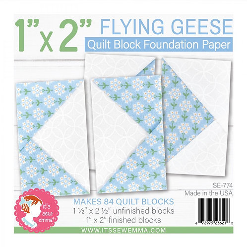 Flying Geese Quilt Block 1in x 2in Foundation Paper Pad