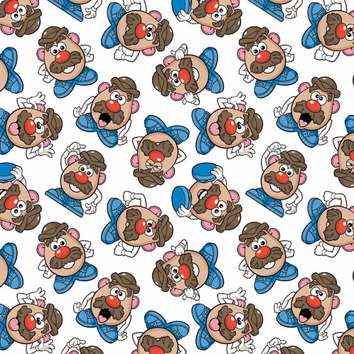 Mr Potato Head Expressions Fabric